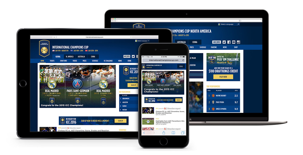 International Champions Cup Website (2015)