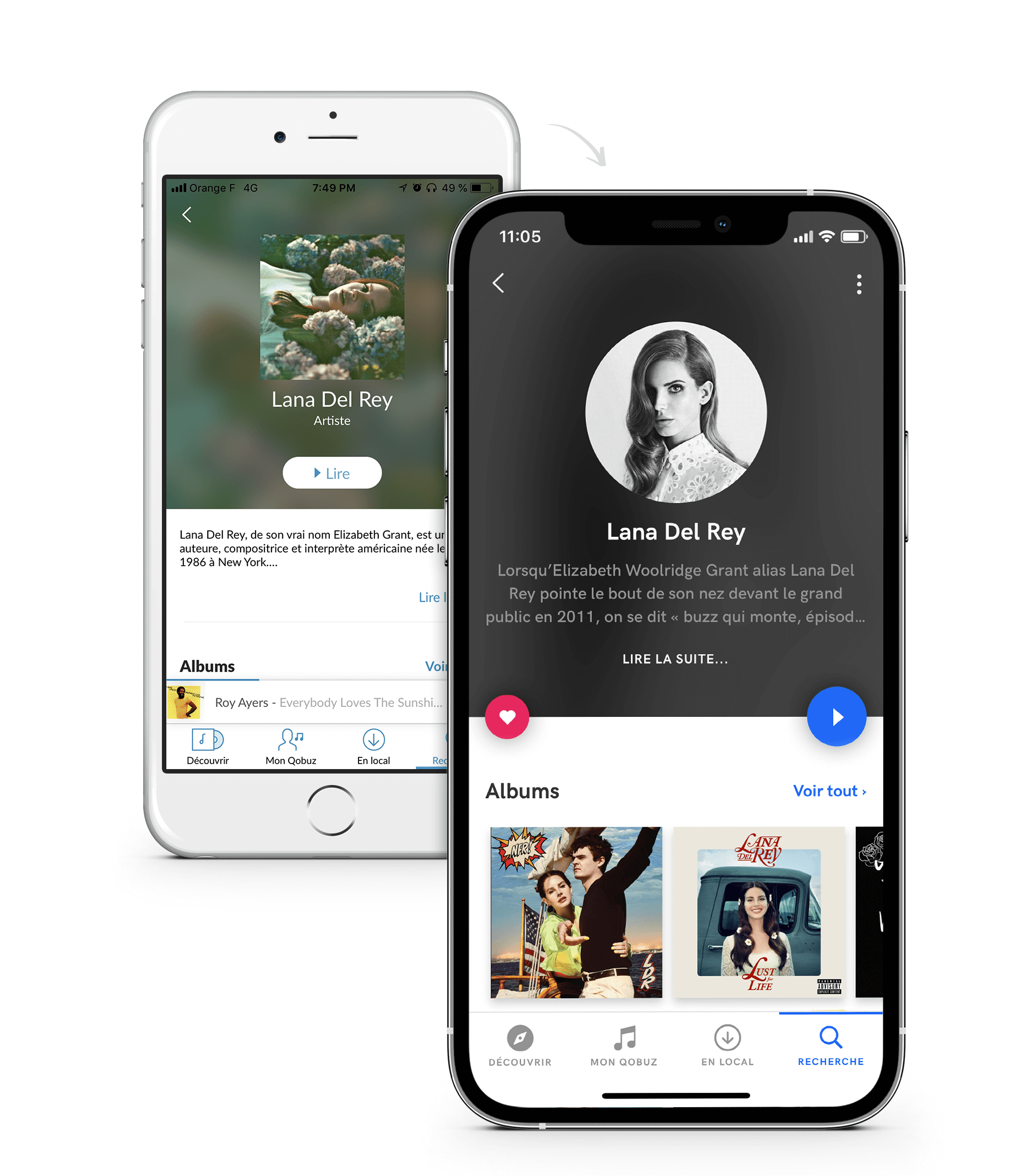 Mobile – Artist Page